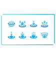 water and ripple icon set vector image vector image