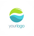 water eco round logo vector image vector image