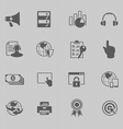 web technology icon set vector image vector image