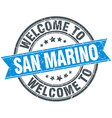 welcome to San Marino blue round vintage stamp vector image vector image