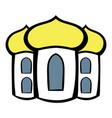 church icon cartoon vector image