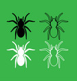 spider or tarantula icon black and white color set vector image