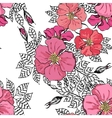 Vintage graphic flower seamless pattern texture vector image