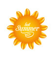 nature sunny with text abstract summer background vector image