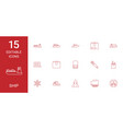 15 ship icons vector image vector image