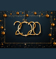 2020 happy new year background for your seasonal vector image vector image