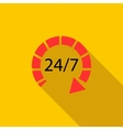 24 hours customer support service icon flat style vector image vector image