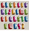 3d font bold and heavy letters geometric vector image vector image