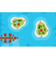 Aerial view of two islands in the sea vector image vector image