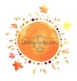 Autumn orange background spot in round shape vector image vector image