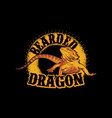 bearded dragon vintage t-shirt graphics vector image vector image