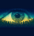 big brother - concept electronic all-seeing eye vector image vector image