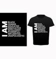 black lives matter t-shirt for protest vector image vector image