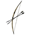 bow and arrows vector image vector image