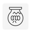 bulb damage icon vector image