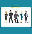 business people teamwork business team vector image vector image
