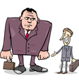 businessmen big and thin cartoon vector image vector image