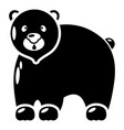 canadian bear icon simple black style vector image vector image