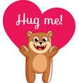 cartoon bear ready for a hugging vector image