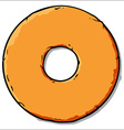 Cartoon donut vector image vector image