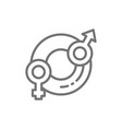 child gender selection line icon vector image