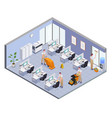 cleaning isometric composition vector image