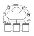 cloud with books vector image vector image