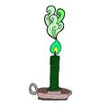 comic cartoon spooky candle vector image vector image