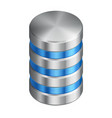 computer disk isometric icon database vector image vector image