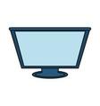 computer monitor icon vector image vector image