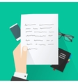 concept writing letter writer desk workspace vector image vector image