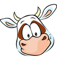 cow head cartoon vector image