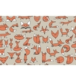 Cute foxes seamless pattern for your design vector image vector image