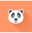 cute panda icon with long shadow vector image