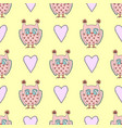 cute seamless pattern with owls and heart vector image vector image