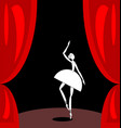 dark red scene and white abstract ballet dancer vector image