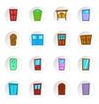 Door icons cartoon style vector image vector image
