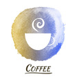 Drink Coffee Watercolor Concept vector image