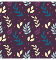 Elegant floral seamless pattern with plants vector image vector image