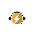 energy podcast logo icon design vector image