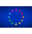 European Gay Flag vector image vector image