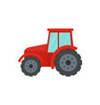 farm tractor icon flat style vector image vector image