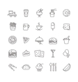 fast food icons - stock set vector image vector image