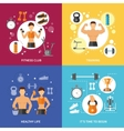 Fitness Club Healthy Life Concept vector image vector image