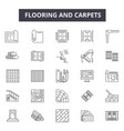 flooring and carpets line icons for web and mobile vector image vector image