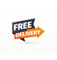 free delivery icon shipping pointer vector image vector image