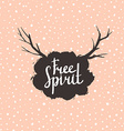 Free Spirit Hipster Vintage Stylized Lettering on vector image vector image