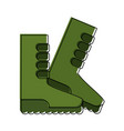 gardener boots isolated vector image