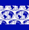 globe seamless pattern vector image vector image