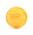 Golden football award concept shiny realistic